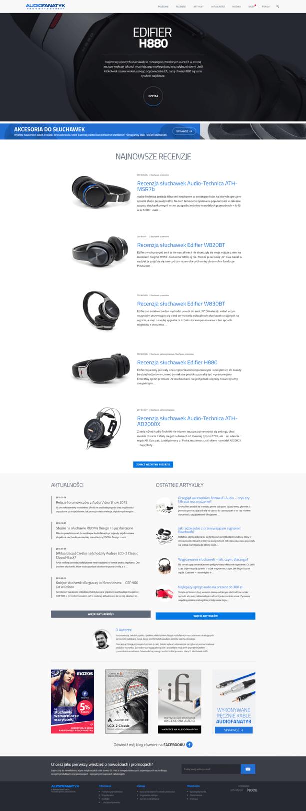 Strona internetowa Audiofanatyk