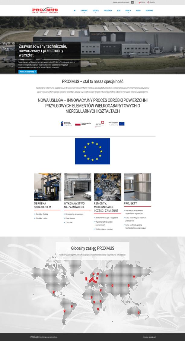 Strona internetowa PROXMUS