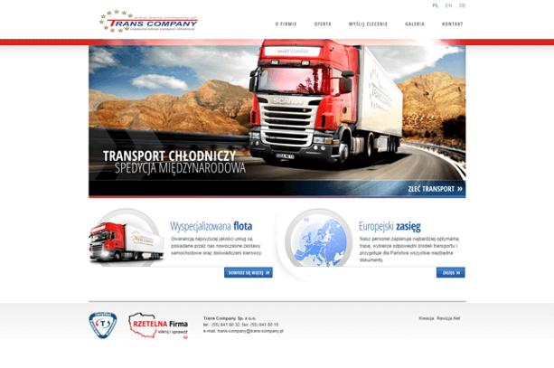 Strona internetowa Trans Company